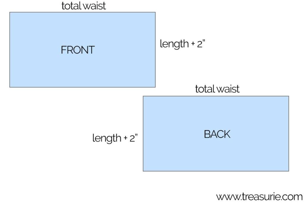 baby skirt measurements
