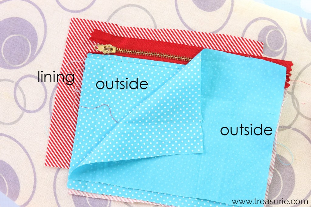 step 3: how to sew a zipper pouch