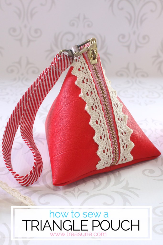 triangle pouch pattern tutorial