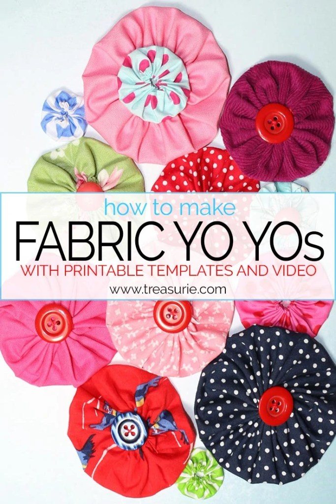 how to make fabric yo yos
