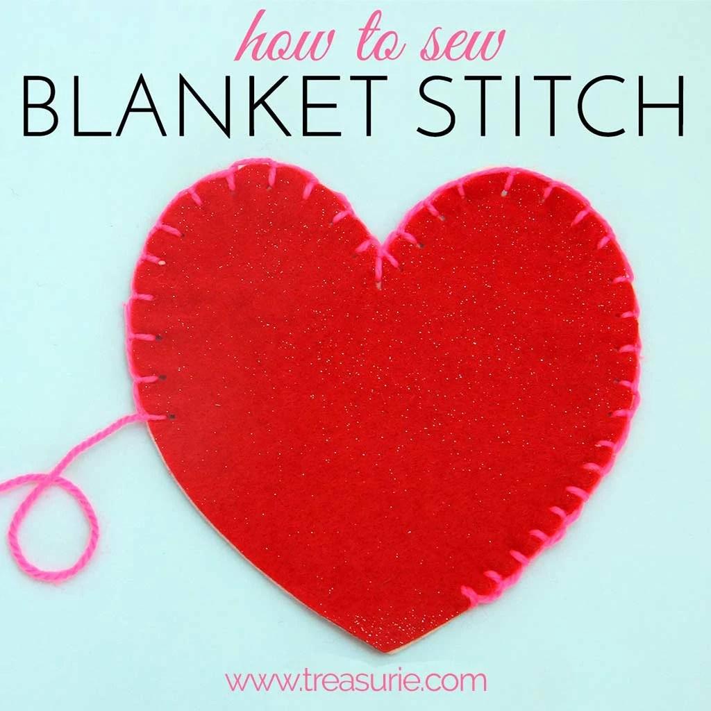 Blanket stitch, how to do blanket stitch