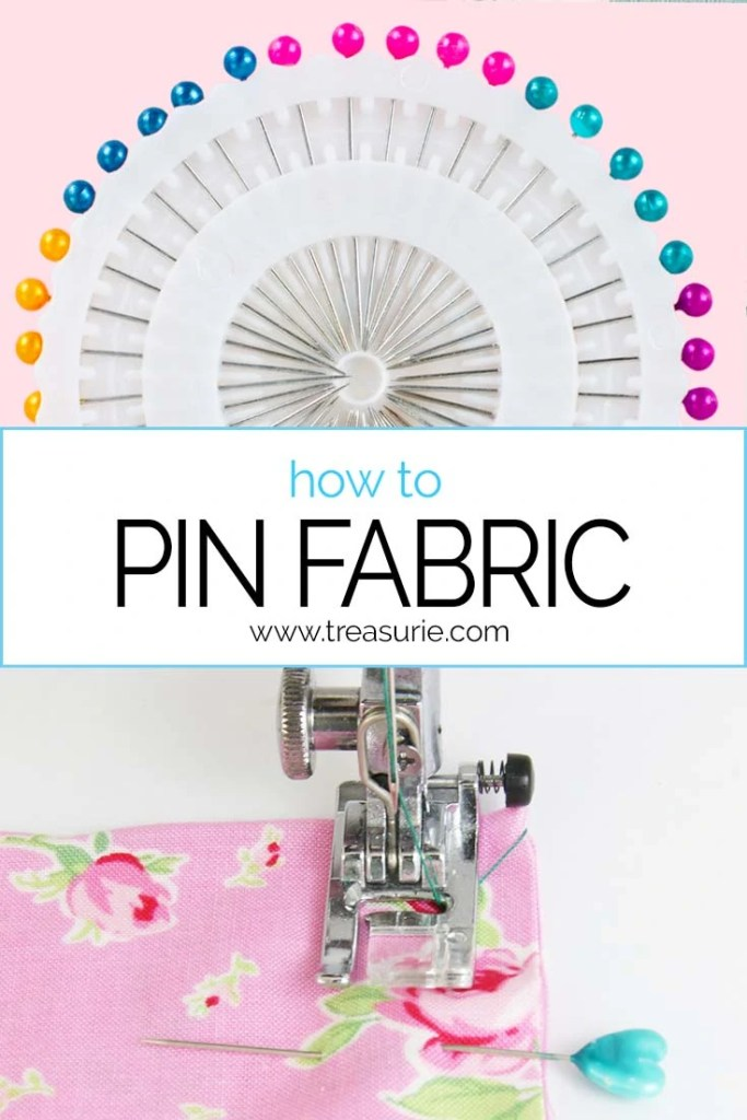 how to pin fabric, pinning sewing
