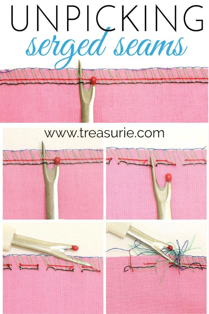 How to Unpick a Serged Seam