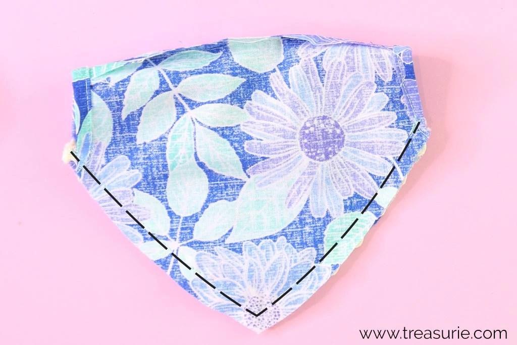 dog bandana pattern step 4