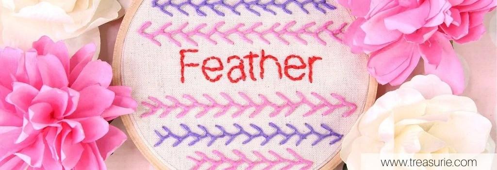 feather stitch