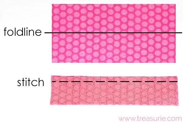 diy fabric bow step 2