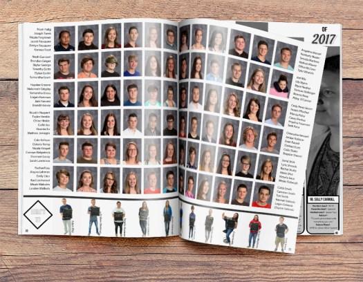 Jahrbuchdesign-Ideen für Porträtseiten