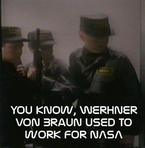 NASA soldiers