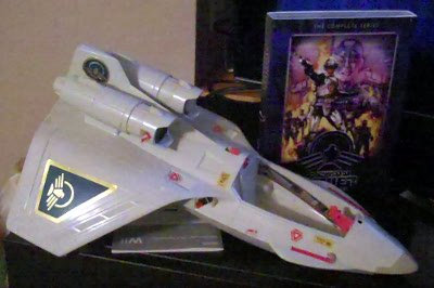 Power Jet XT-7, ca 1987 and Captain Power DVD set, ca 2011