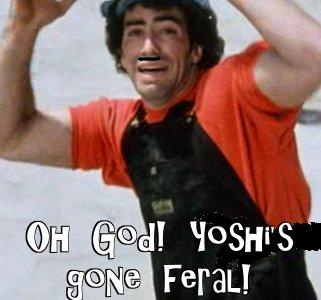 Yoshi's gone feral!