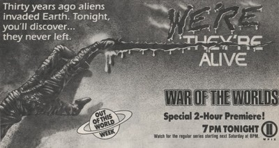 War of the Wolrds Premier TV Guide Ad
