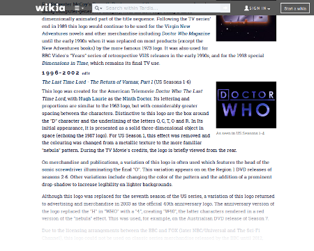 Doctor Who Logo Wiki Article
