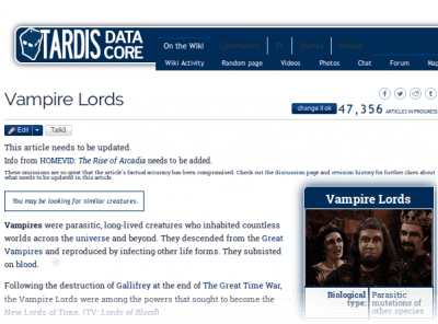 TARDIS Data Core Wiki Entry: Vampire