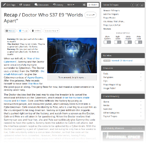 Doctor Who Age of Steel TvTropes Entry