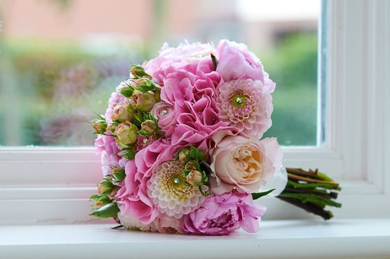 2 Bridal Bouquet Pink Wedding (4)
