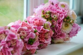 2 Bridal Bouquet Pink Wedding (6)