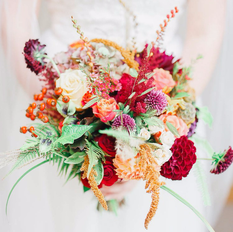 Seasonal Autumn Wedding Bouquets
