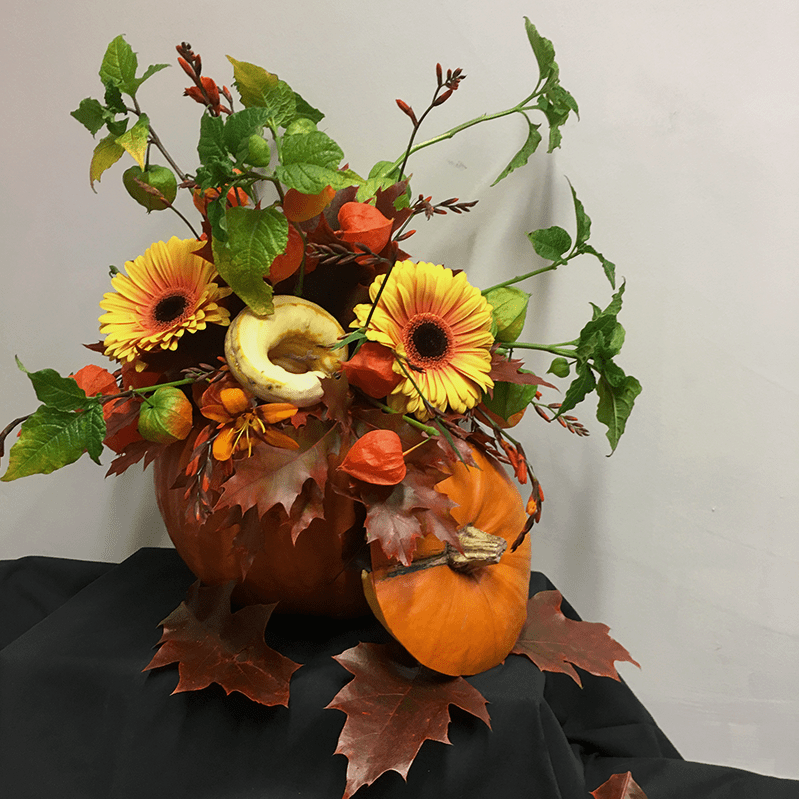 final image step-by-step floral pumpkin