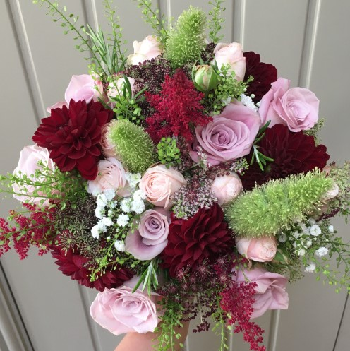 What's in My Bouquet? Burgundy & Blush