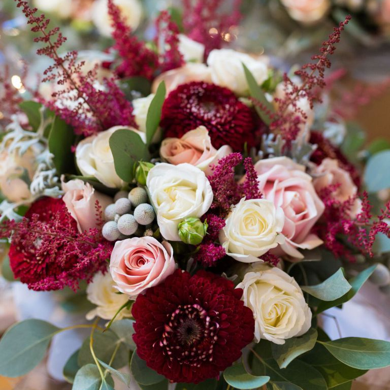 Top 5 Burgundy and Blush Weddings