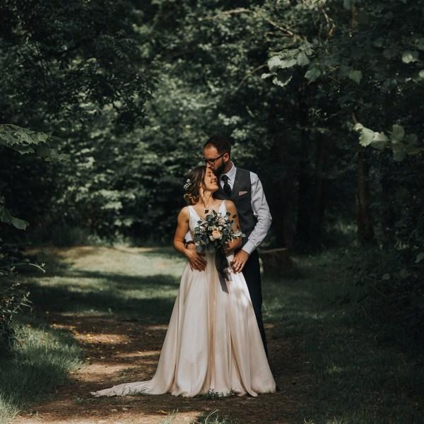 Wild, Fragrant Wedding Bouquet