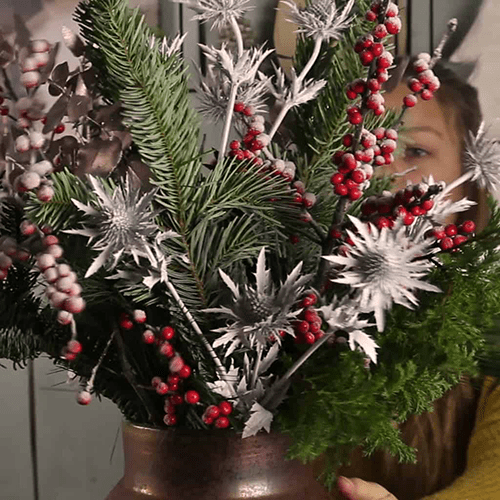 DIY Christmas Flower Everyday Vase