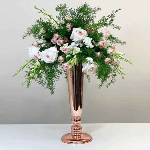 DIY Rose Gold Trailing Arrangement