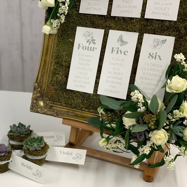 Moss-inspired Table Plan