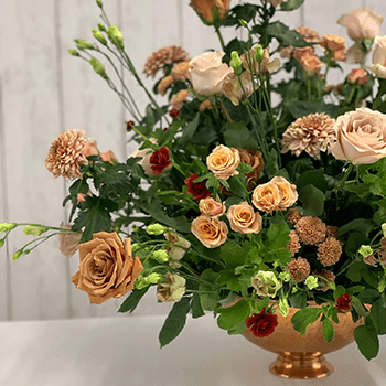 Caramel-Inspired Floral Designs