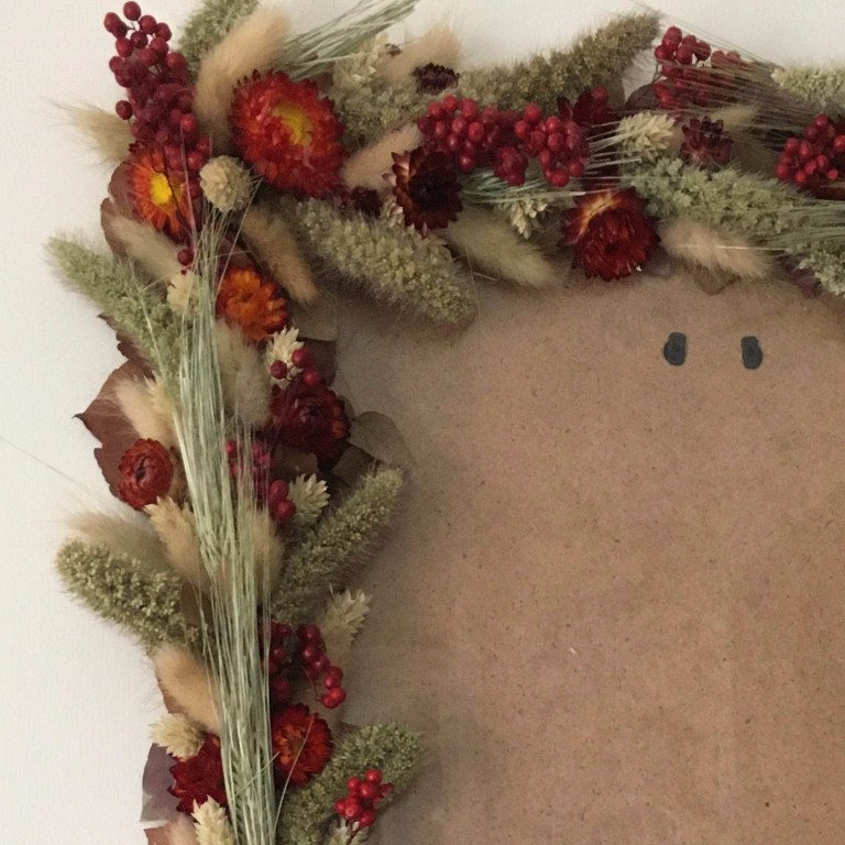 DIY Dried Flower Photoframe