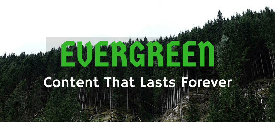 Evergreen content for content promotion