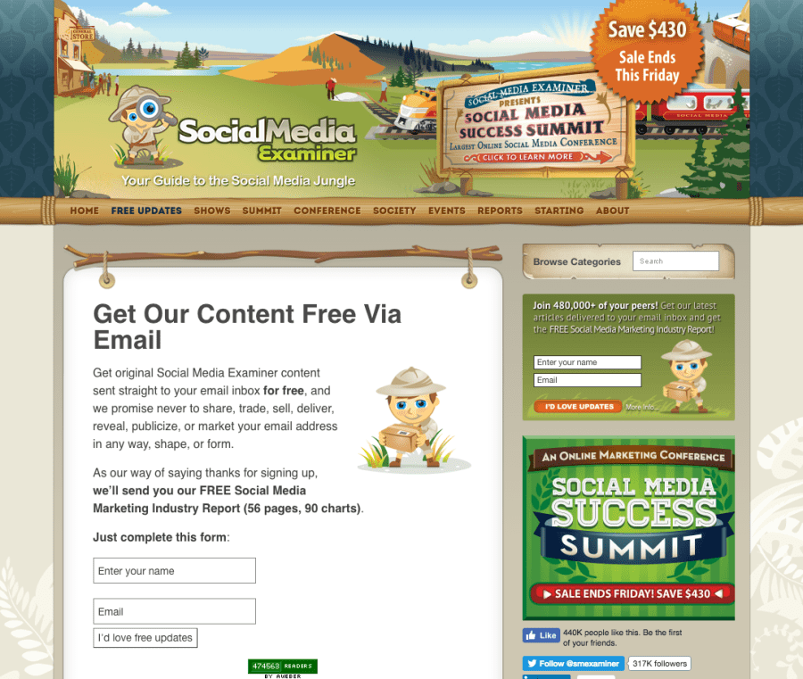 Newsletter Social Media Examiner