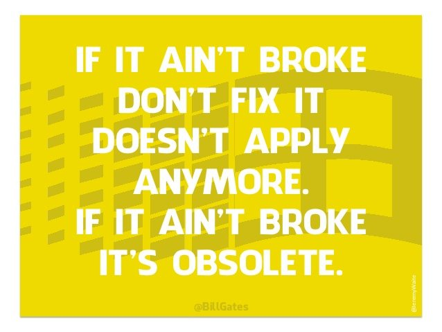 If it aint broke dont fix
