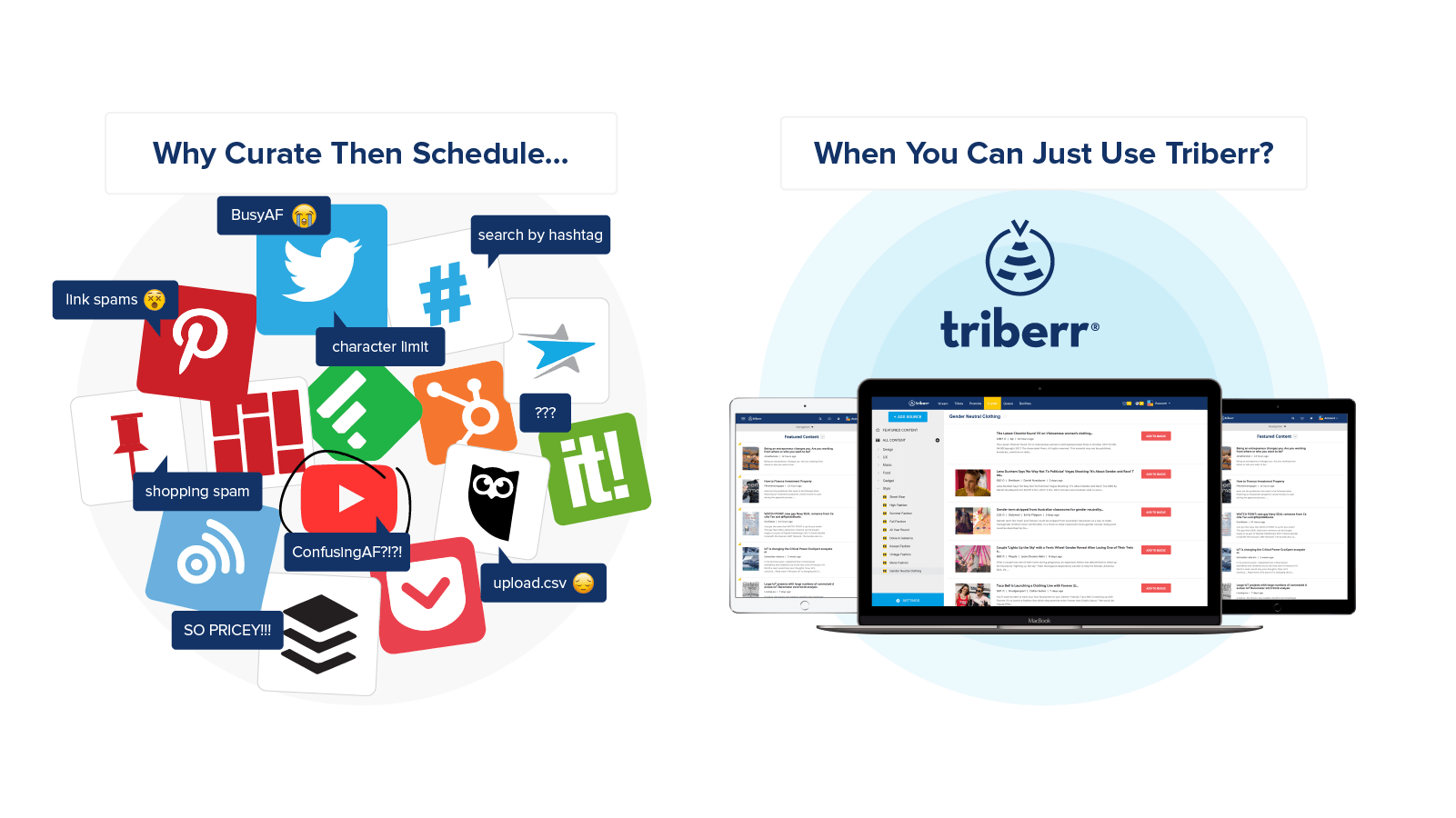 Triberr Content Curation Tool