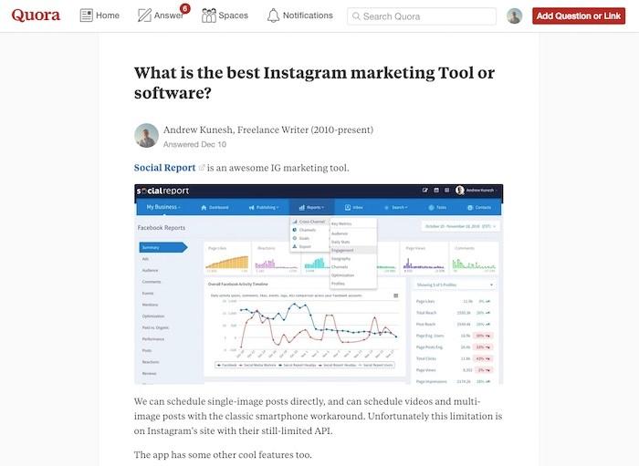 Reddit Quora for Content Curation