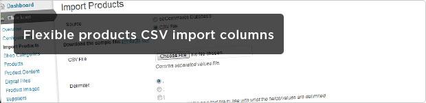 Flexible Products CSV Import Columns