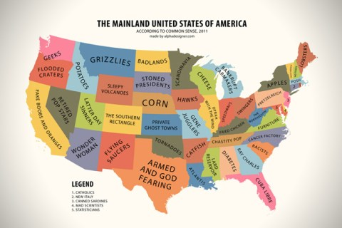 Mainland USA According to Common Sense