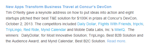 tripchi in the concur newsletter