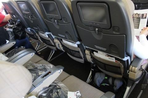 Swiss Air LX052 ZRH-BOS Economy Seat
