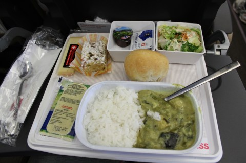 Swiss Air LX052 ZRH-BOS Meal Service - Lunch
