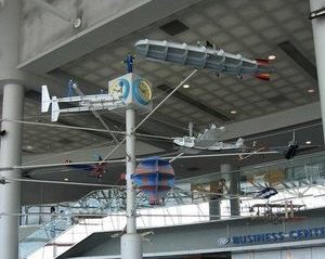 Just Plane Art at CLT Airport - Model Plane Mobile