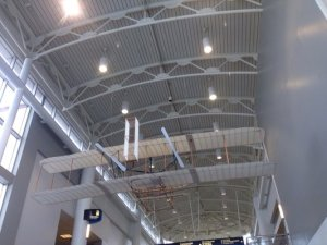 Wright Flyer Replica at CLT Airport