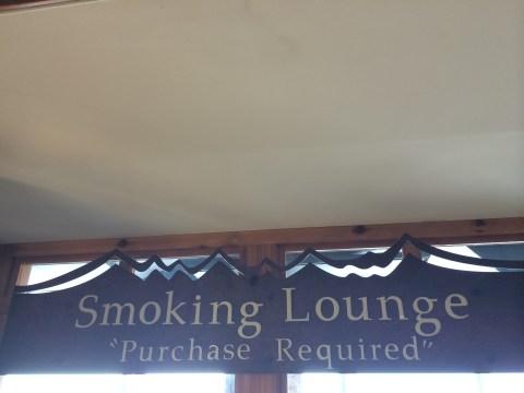 Smoking Lounge at Denver Airport
