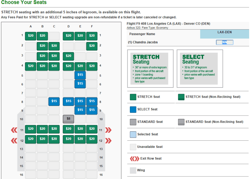 Frontier Airlines Seating Map Brokeasshome Com