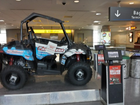 Off-roading Vehicle Giveaway in Terminal A