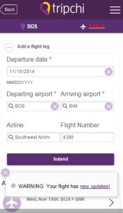 Flight Update