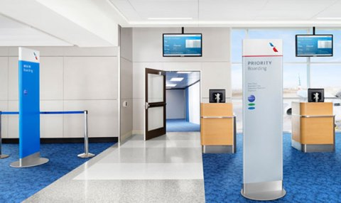 Boarding Areas at the Next Generation Airport, Courtesy of FTE: http://www.futuretravelexperience.com/2013/10/american-airlines-delivering-vision-next-generation-airport/?