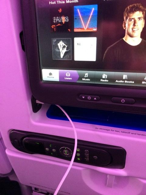 In-Flight Entertainment - Air New Zealand Flight NZ2