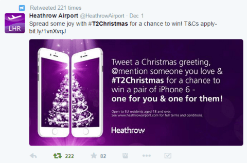 LHR Airport Holiday Celebration on Twitter