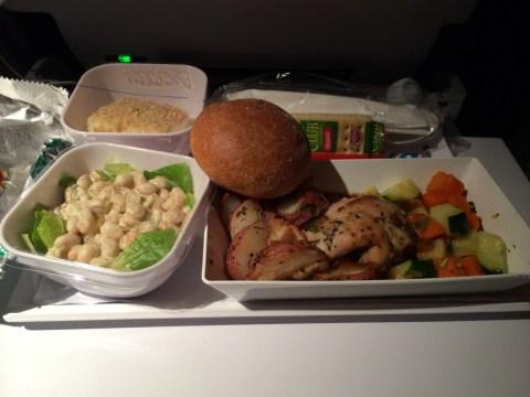 Air New Zealand Flight NZ2 Food